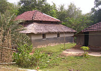 A hut in a village in the Hooghly district
