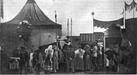 The opening carnival scene in Liliom inspired the pantomime that begins Carousel; 1921
