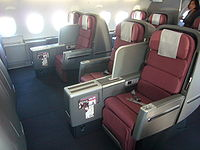 Qantas Business Skybed 2 on selected Airbus A380 aircraft.