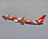 A Boeing {{not a typo 737-800}} in 2005 wearing the Yananyi Dreaming livery. The aircraft carried the colour scheme from 2002 to 2014.