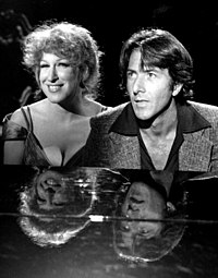 With Bette Midler on the Bette Midler TV special (1977)