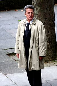 Hoffman during the filming of Last Chance Harvey in 2008