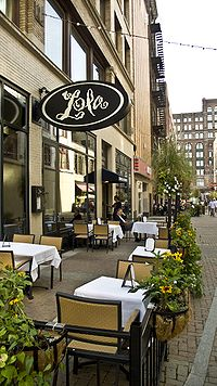 Lola's patio on East 4th Street in downtown Cleveland