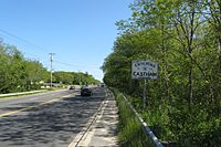 Looking southbound entering Eastham