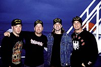 Post-grunge band Creed in 2002