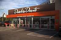 The original Dunkin' Donuts in Quincy, Massachusetts, after its renovation in the 2000s
