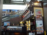 One of the last remaining Dunkin' Donuts locations (closed in 2017) in Canada at Montreal's Place Ville-Marie