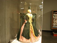 The Bob Mackie–designed curtain dress worn by Burnett in the Went with the Wind! sketch, housed at the Smithsonian Institution