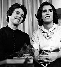 Carol and sister Chrissie on Person to Person, 1961