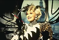 In Disney's 1996 live-action remake of the animated film, 101 Dalmatians, and its 2000 sequel, 102 Dalmatians, Cruella DeVil was played by Glenn Close.