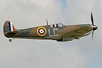 One of the Spitfires repainted for the film