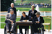 Bush signs the Americans with Disabilities Act of 1990