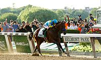 American Pharoah won the Belmont Stakes to become the 12th winner of the US Triple Crown.