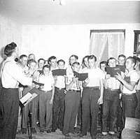 A men's chorus from the 1940s or 1950s