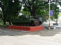 The army used seven Vijayanta Tanks during the operation