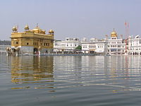 Golden temple with Akal Takhat on the right