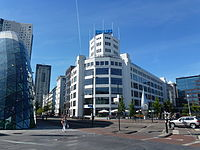 The Philips Light Tower in Eindhoven, originally a light bulb factory and later the company headquarters