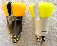 LED bulbs made by Philips.
