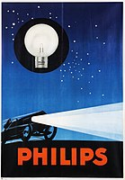 Philips car lamps poster (1923)