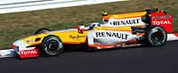 Then rookie Romain Grosjean driving for Renault at the 2009 Japanese Grand Prix.