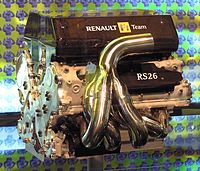 The Renault team's engine, the RS26. Renault's first V8 engine in Formula One.