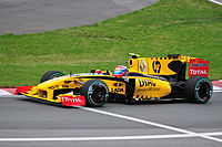 Then rookie Vitaly Petrov driving for Renault at the 2010 Canadian Grand Prix.