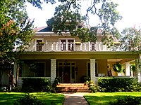 Bliss-Hoyer House, built by Abel and Nettie Bliss, was later the home of Ewald Max Hoyer, the first mayor of Bossier City, who continued to reside in Shreveport.