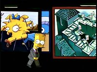 """Bart Simpson introducing a segment of """"Treehouse of Horror IV"""" in the manner of Rod Serling's Night Gallery"""