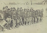 Co C, 110th Pennsylvania Infantry after the Battle of Fredericksburg, April 24, 1863
