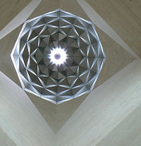 Ceiling with Islamic patterns at the Museum of Islamic Art, Doha.