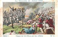 The Melilla War between Spain and Rif Berbers of Morocco in 1909