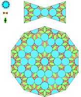 The subdivision rule used to generate the Girih pattern on the spandrel.