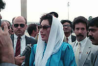 Benazir Bhutto, the former prime minister of Pakistan became the first woman elected to lead a Muslim-majority country.