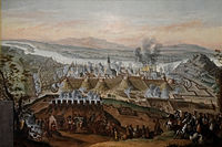 The Christian reconquest of Buda, Ottoman Hungary, 1686, painted by Frans Geffels