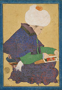 Portrait of a painter during the reign of Ottoman Sultan Mehmet II