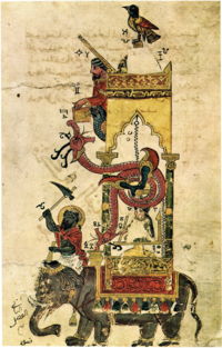 The Elephant Clock was one of the most famous inventions of Al-Jazari.
