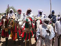 A tribal delegation in Chad