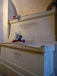 Tombs of Marie (above) and Pierre Curie at Paris' Panthéon
