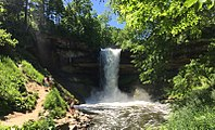 Established in 1889, Minnehaha Falls and the surrounding land was the second state park in the United States.