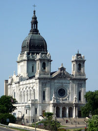 The Baroque-style Basilica of Saint Mary by Emmanuel Louis Masqueray