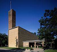 Christ Church Lutheran by Eliel and Eero Saarinen is considered an architectural masterpiece.