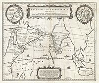 1658 Jansson Map of the Indian Ocean (Erythrean Sea)