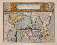 17th century map depicting the locations of the Periplus of the Erythraean Sea.