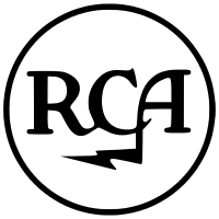 Classic RCA logo, first retired in 1968; revived in 1987 until 2015