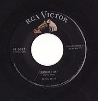 Label of an RCA Victor 45 rpm record from mid 1950s to 1964