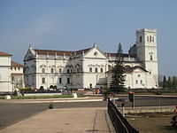 The Se Cathedral in Goa, India, an example of Portuguese architecture and one of Asia's largest churches