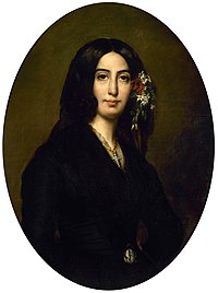 """A young George Sand (real name """"Amantine Lucile Dupin"""")"""