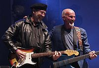 Thompson with Fairport Convention's Dave Pegg at Cropredy, 2005