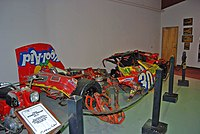 This is what was salvaged from Waltrip's 1990 Kool-Aid sponsored Busch Series car after his accident at Bristol.