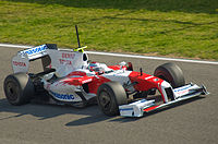 The Toyota TF109, Toyota F1's car for the 2009 Formula One season.